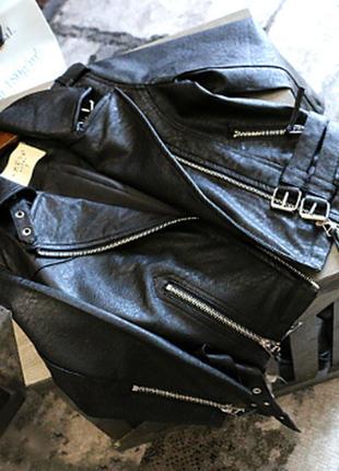 Новая стильная  детская кожаная куртка / косуха