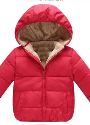 Новая шикарная красная детская куртка