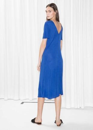 Платье миди с v вырезом на спине новое с бирками oversize легкое & other stories