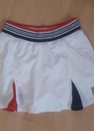 Шикарная спортивная юбка- шорты для занятий спортом, размер м, fila