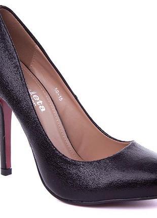 Черные туфли лодочки на каблуках