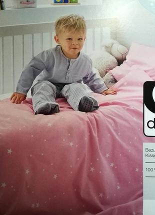 Детское постельное белье линон 100х135 dormia комплект германия
