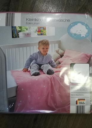 Детское постельное белье линон 100х135 dormia комплект германия3 фото