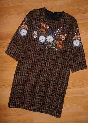 Мега красивое платье с вышивкой
