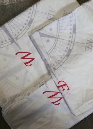 Постельное белье мако-сатин 155х200 dormia комплект германия2 фото