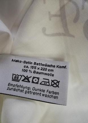 Постельное белье мако-сатин 155х200 dormia комплект германия4 фото
