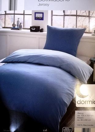 Постельное белье джерси 135х200 dormia двухстороннее комплект германия