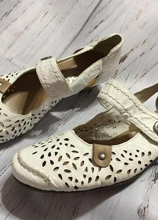 Кожаные летние туфли rieker р 39 германия