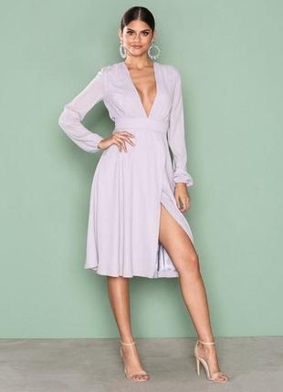 Шикарное новое платье пыльная сирень 1+1=3 🎁