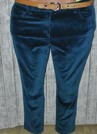 Шикарные брюки велюр большой размер xxl 16р. 34-35р. boden