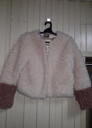 Модная молодежная деми искусственная шуба  курточка  эко мех искусственный