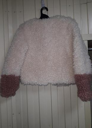 Модная молодежная деми искусственная шуба  курточка  эко мех искусственный2 фото