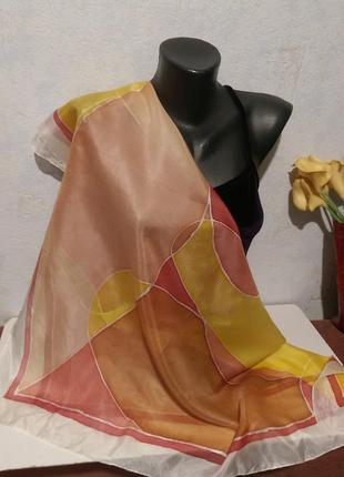 Натуральный шелк,батик,платок,роуль,92*86