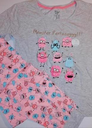 Новая пижама  monsters partay! костюм /набор для сна и отдыха love to lough
