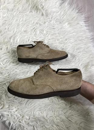 Стильные замшевые туфли оксфорд marks &r spencer легкие и качественные