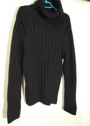 Чёрный  вязаный свитер, гольф  для девочки marc  o'polo  р. 152