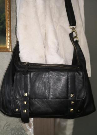 Большая стильная кожаная сумка catwalk