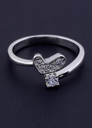 Кольцо 'xuping' фианит (родий)