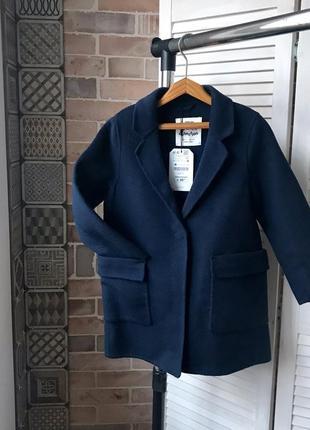 Синий пиджак zara на девочку 7 лет