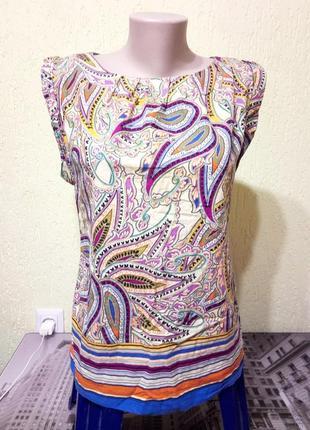 Распродажа! эффектная цветная блуза с принтом от dorothy perkins🐞скидка