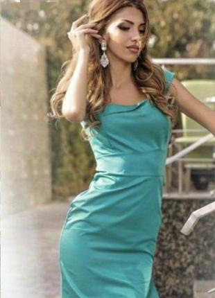 Майская скидка!!бирюзовое платье