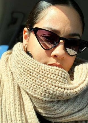 Женские треугольные солнцезащитные очки линзы градиент новинка трендовые