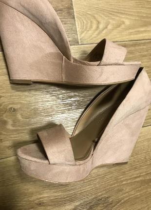 Босоножки туфли из эко замши