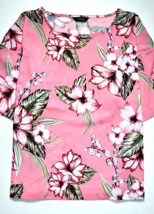 Marks & spencer. блуза топ в цветы. 12-й. м-ка