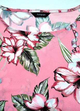 Marks & spencer. блуза топ в цветы. 12-й. м-ка2