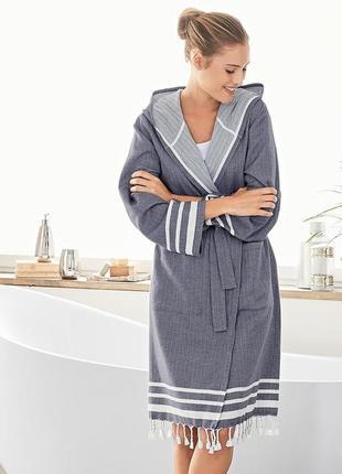 Удобный халат с экологического хлопка от тсм tchibo (чибо), германия, размер 50-52