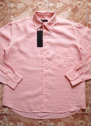 Рубашка льняная warren webber, м(l).