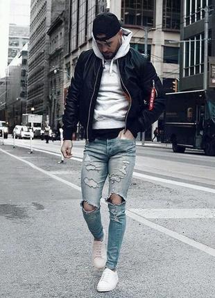 Мужская куртка бомбер мужской alpha industries оригинал