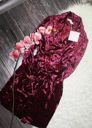 Бархатное платье пиджак с поясом3