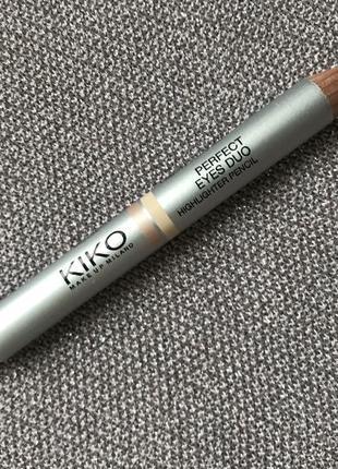 Олівець-хайлайтер kiko milano perfect eyes duo highlighter pencil