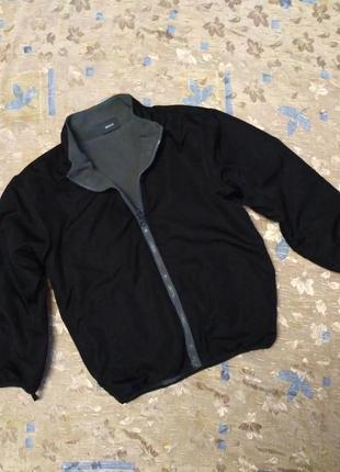 Двусторонняя куртка на флисе на возраст 6 лет бренда mexx