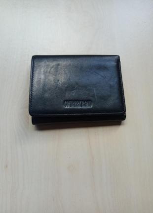 Бумажник кожаный небольшой кошелёк складной