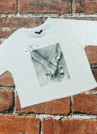 Укороченная футболка оверсайз девочке на 12 лет