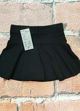 Черная фактурная юбочка на 3 года