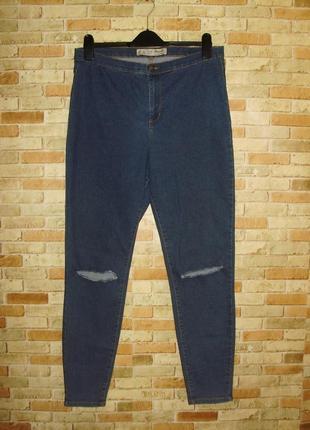 Стрейчевые стильные джинсы высокая посадка/16/50-52 размера