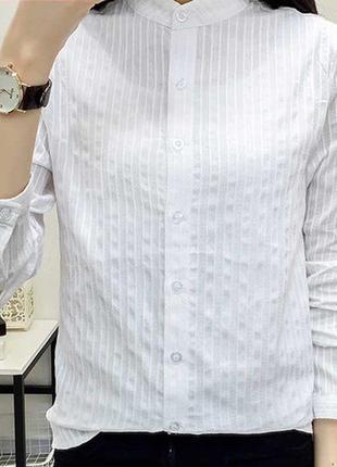 Белая фирменная рубашка-блузка от biaggini