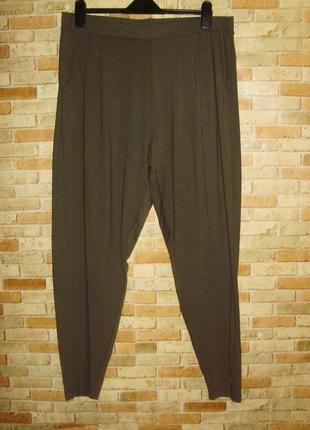 Трикотажные штаны-лосины с защипами на резинке/18/52-54 размера