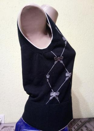 Sale!🐞эффектная жилетка с принтом бантики от oasis, кофта3 фото