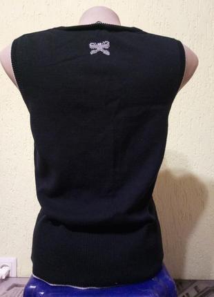Sale!🐞эффектная жилетка с принтом бантики от oasis, кофта4 фото