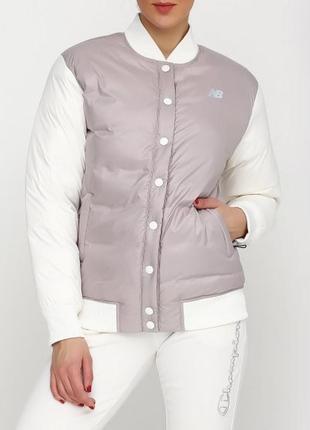 Пудровая куртка бомбер пуховик new balance heatdown-800d-оригинал