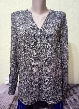 Распродажа!🐞вискозная блуза с хищным принтом,рубашка🌹скидка