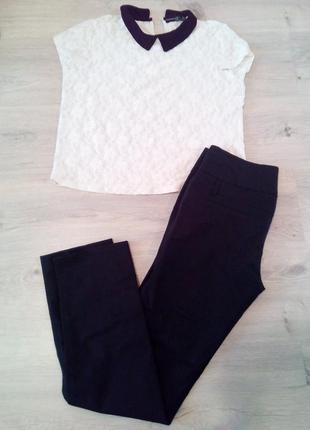 Брюки ,штаны черные женские. блуза atmosphere в подарок