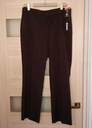 Женские коричневые темные прямые брюки классика