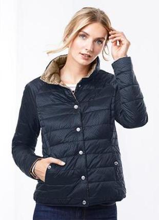 Мега крутая стеганая куртка-двухсторонка от tchibo, германия - р. 48-50 укр.