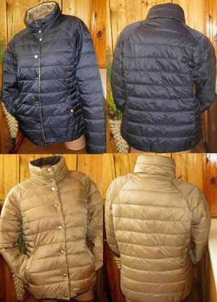 Мега крутая стеганая куртка-двухсторонка от tchibo, германия - р. 50-52 укр.8