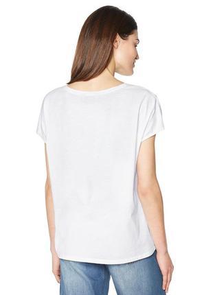 Белоснежная футболка с красивой вышивкой от tchibo - 100% хлопок5